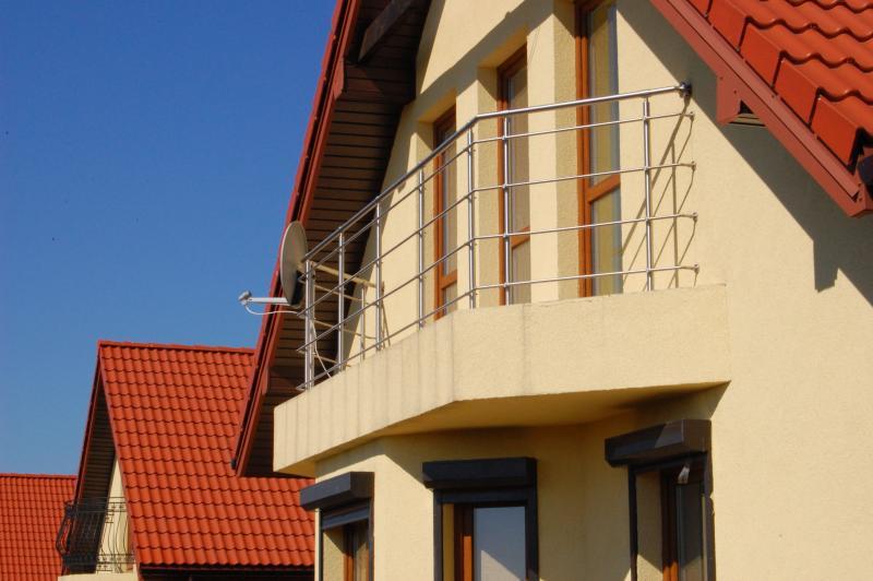 Balustrada przy dachu